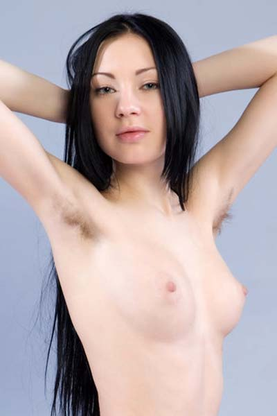 Model Anabelle A in Lavender Nude