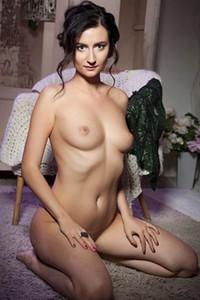 Model Madeline B in Purple Hues